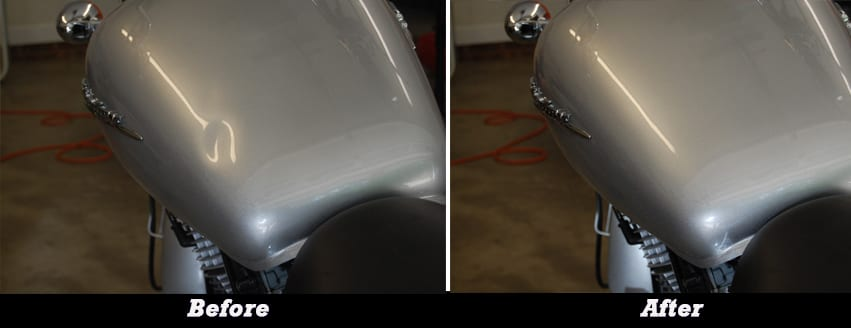 Motorcycle Gas Tank Before and After